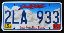 "SOUTH DAKOTA "" GREAT FACES - MOUNT RUSHMORE "" 2010 / 11 SD Graphic License Plate"