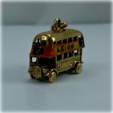 Vintage 9ct Gold Leigh Double Decker Bus