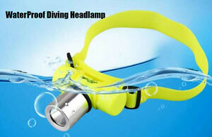 CREE Q5 LED Waterproof Diving Scuba Headlight Headlamp AAA Battery