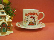 Sanrio Hello Kitty Ceramic Coffee Cup with Plate @1996