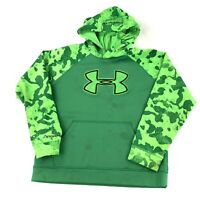 Under Armour Storm Youth Large Center Logo Green Camo Hoodie Sweatshirt