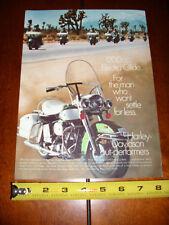 1969 HARLEY DAVIDSON 1200 cc ELECTRA GLIDE - ORIGINAL VINTAGE AD
