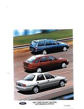 "1997 FORD ESCORT RANGE 'HISTORICAL' PRESS PHOTO""sale brochure related"""