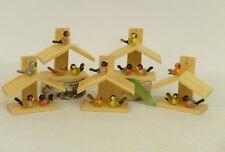 Vogelhäuschen 5 Stück, 795  Osterdekoration Original/ Erzgebirge