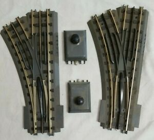 LOT of (2) MTH REALTRAX 40-1044 O-42 LEFT HAND SWITCH - SOLID RAIL