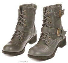 Womens Combat Military Boots Lace Up Buckle Women Motorcycle Riding Boots Shoes
