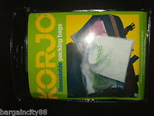 5/10/15 pcs KORJO Lrg Resealable Travel Luggage Packing Cloth Shoes Storage Bags