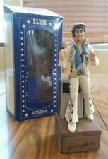 Vintage 1977 McCormick Elvis Presley Decanter w/ Music Box Base