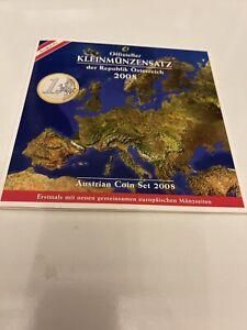 Série 8 Pièces de la 1 cent à la 2 Eur Autriche 2008