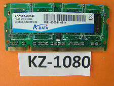 ADATA 1GB ADOVE1A0834E DDR2 così-dimm RAM arbeitsspeicher800mhz PC2-6400#kz-1080