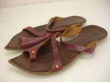 Women's 8 M 38 Cydwoq Vintage Bazaar Purple Leather Beaded Sandals Toe Loop Ring