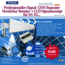 1500m2 GSM 900MHz Repeater Handy Verstärker Booster LOG +20dbi Antenne T-Mobile