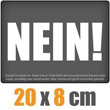 non ! 20 x 8 cm JDM Sticker Voiture Automatique Blanc Autocollant pour vitres