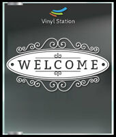 Welcome Sign Business Store Sign Vinyl Decal Sticker Window Door