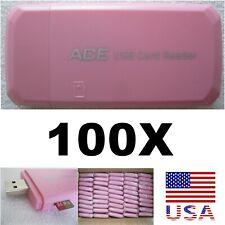 100X lot of micro sd card readers / adapters. 100 units per lot. Usb 2.0