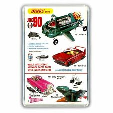 DINKY  THUNDERBIRDS - FAB 1- JOE'S CAR & SAM'S CAR JUMBO FRIDGE/ LOCKER MAGNET
