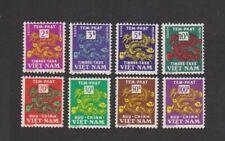 1955-56 South Vietnam Postage Due Stamps, Complete Dragon Set Sc # J7 - J14 MLH