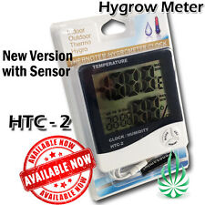 Grow Tent Electronic Digital LCD HTC-2 Clock Temp Humidity Meter Hydroponic