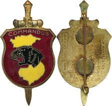 Commandos 16, tête de panthère, carte jaune, fond rouge clair, D.O.Métra
