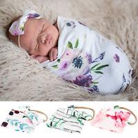 Couverture nouveau-né mignonne bébé garçon filles sac couchage Wrap bandeau