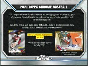 BALTIMORE ORIOLES 2021 Topps Chrome Baseball Hobby 3 Box Break PYT #2 🌎
