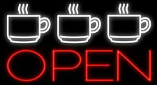 "New Espresso Cups Cafe Coffee Open Man Cave Neon Sign 32""x24"" Beer Lamp Light"