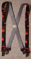 "Suspenders Children 1""x30"" FULLY Elastic Hunter's Orange Blaze NEW Made in USA"