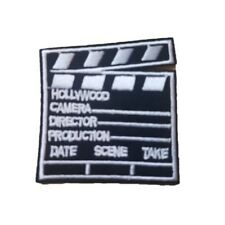 Hollywood Directors Film Slate Iron On Patch Sew on Transfer Directors take