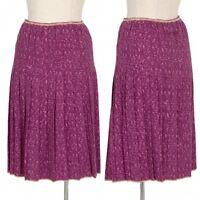 Jean Paul GAULTIER FEMME Wool print pleated skirt Size 40(K-32880)