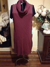METALICUS burgundy Rhubarb WOOLSTONE TUNIC Size M-L RRP $179.95 Merino Wool