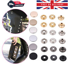 4 Parts Press Stud Snap Buttons with Alloy Top for Bags DIY Leathercraft Project