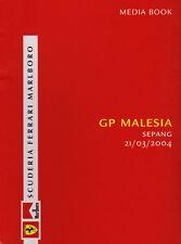 Scuderia Ferrari F1 Media Book - Malaysian Grand Prix 2004 Driver Stats & Bios