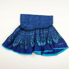 Desigual Kids Girls Skirt Size 7/8 Blue Print Circle Skirt
