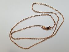 Quality Genuine Solid 9ct 9k Rose Pink Gold Diamond Cut Cable Ladies Necklace
