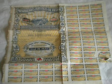 Vintage share certificate Stocks Bonds Messageries fluviales de France 1901