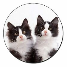 Black and White Kittens Fridge Magnet Stocking Filler Christmas Gift, AC-199FM