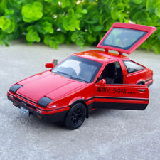 Initial D Toyota TRUENO AE86 1:28 Model Cars Toys Alloy Diecast Sound&Light Red