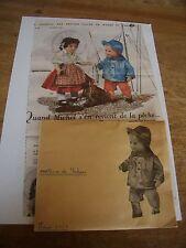 """T2 PATRON POUPEE  MICHEL """" MODES ET TRAVAUX"""""""" COSTUME DE PECHEUR FEVRIER  1961"""