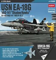 Academy 1/72 USN EA-18G VAQ-141 Shadow Hawks Plastic Model Kit Aircraft 12560