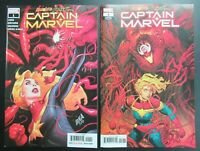 Absolute Carnage Captain Marvel # 1 Main + Codex Variant Cover NM