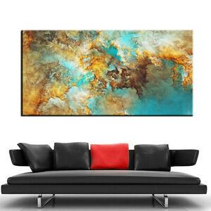 Large art Prints Home Decor Canvas Painting Wall Art Yellow Nebula