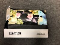 NEW Kenneth Cole Reaction Triple Section Cosmetic Case