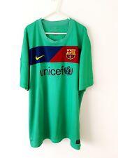 Barcelona Away Camiseta 2010. XXL. Nike. Verde Adultos Manga Corta Top de fútbol.