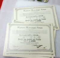 1903 LOT OF 10 M. KAPITAAL CONSECUTIVELY NUMBERED DECEMBER STRIP #BONDS /STOCKS!