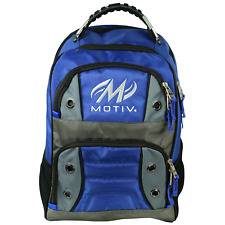 Motiv Intrepid Bowling Ball Company Tournament Backpack Blue/Silver