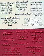 unmounted Religious rubber stamps Love & Inspirational collection    8 images
