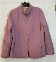 Sigrid Olsen > Size: Womens Medium > Quilted Jacket > Lilac > Pre-Owned > NICE