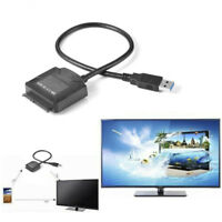 "Hard Disk Drive SATA 7+15 Pin to USB 3.0 Adapter Cable For 2.5"" 3.5''HDD Laptop"