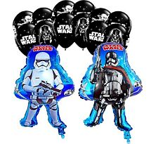 Star Wars Balloon Clone Trooper Captain Phasma Black Latex (14 Piece Set) Party