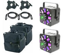 QTX Hadron Eco 3 en 1 Luz LED Efecto Luz Estroboscópica Laser Dmx Proyector Dj Package
